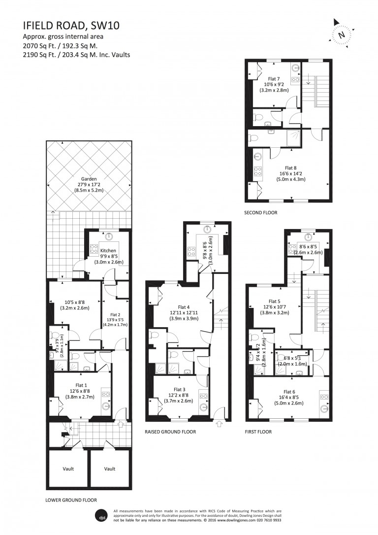 Floorplans For Ifield Road, Chelsea, SW10