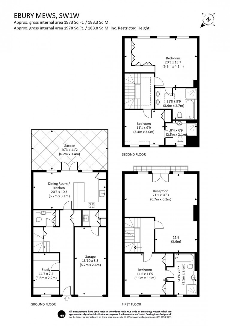 Floorplans For Ebury Mews, Belgravia, SW1W