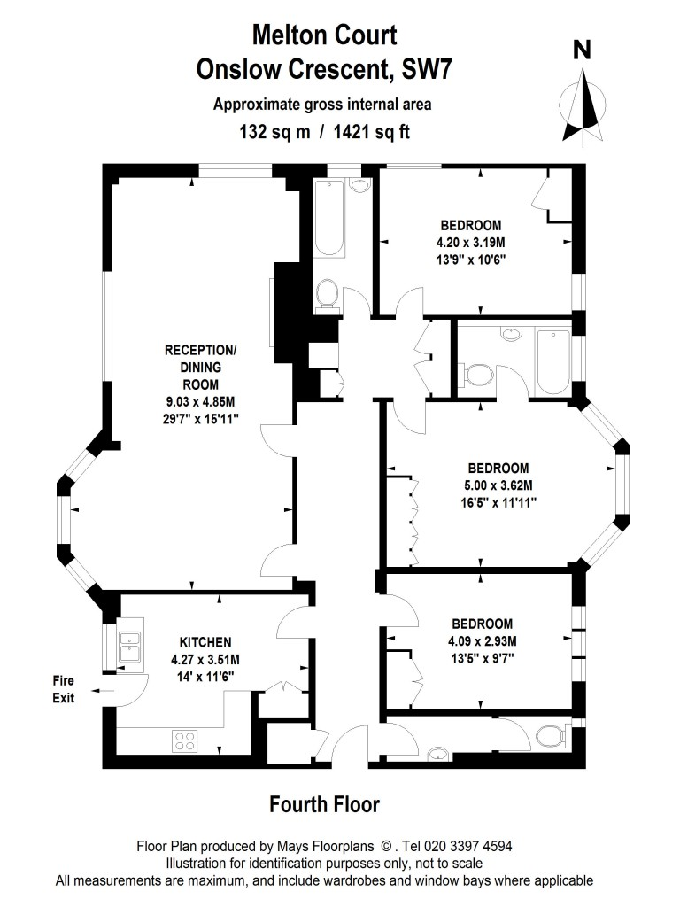 Floorplans For Melton Court, South Kensington, SW7